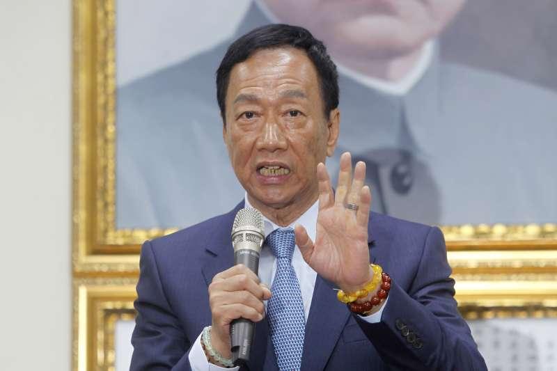 鴻海董事長郭台銘宣布參選國民黨總統提名初選,過去的富士康跳樓事件成為蔡英文總統批評的話題。(AP)