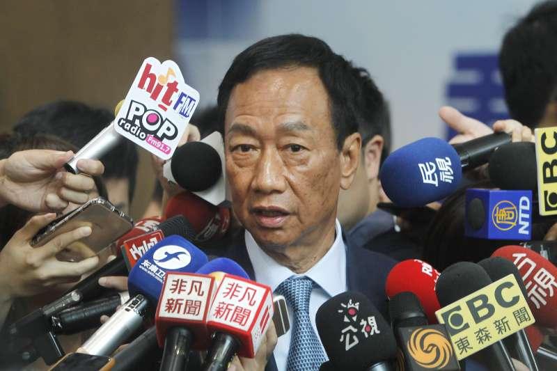 鴻海董事長郭台銘說,鴻海絕對是100%自主經營。(資料照,AP)