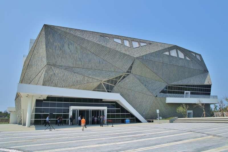 台中市海洋生態館外觀已完工。(圖/台中市政府提供)