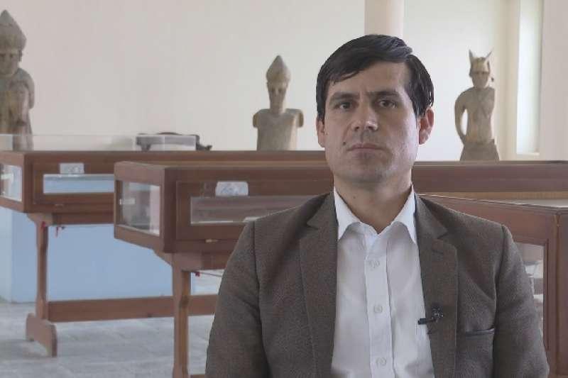 阿富汗國家博物館首席策展人阿伊努丁·賽達喀特。(新華社)