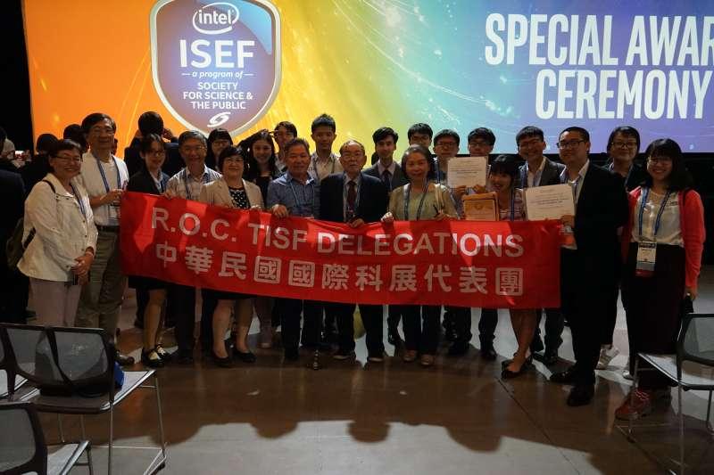 20190518-我國參加2019年美國英特爾國際科技展覽會(Intel International Science & Engineering Fair,簡稱Intel ISEF)」,獲得7項大會獎和4項特別獎。(取自科教館官網)