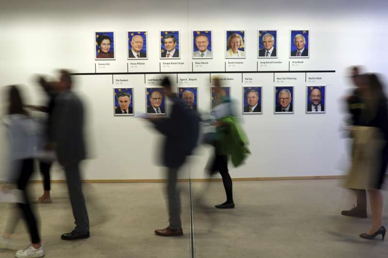 五年一度的歐洲議會選舉即將在本月23日至26日間舉行,28個成員國間5億多選民將選出超過700位的議員。(美聯社)