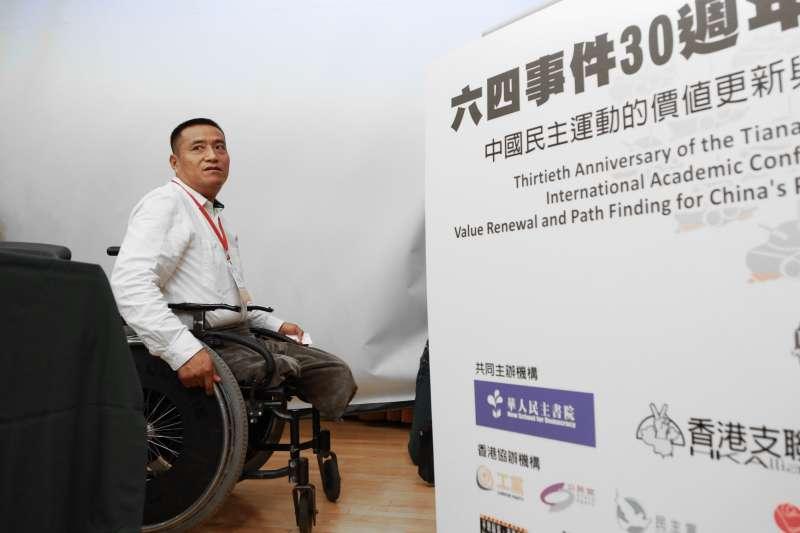 20190518-中國民主教育基金會,六四屠殺受害人方政18日出席六四事件30週年研討會。(簡必丞攝)