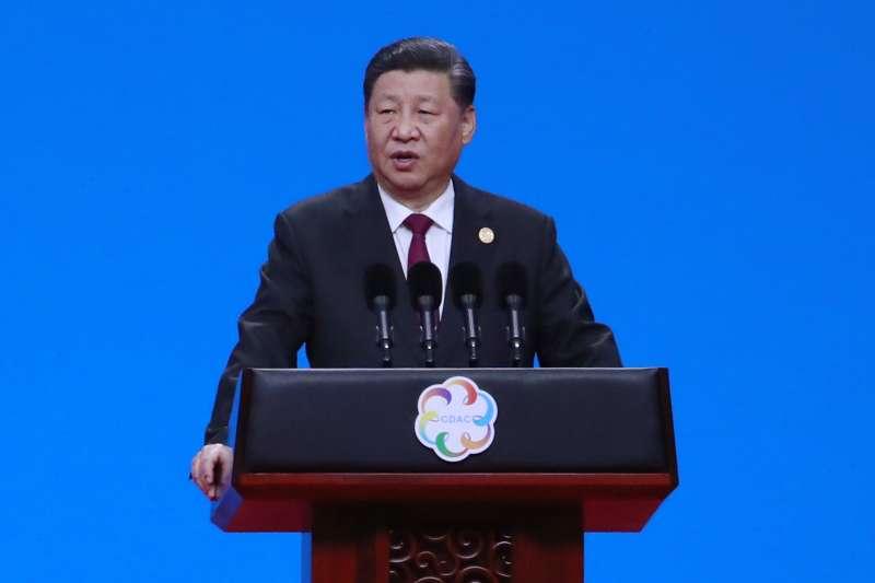 中國國家主席習近平2019年5月15日在北京舉行的「亞洲文明對話大會」開幕式上講話(AP)