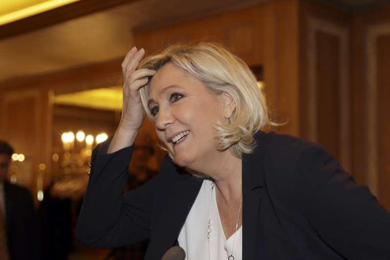 法國極右派「國民聯盟」領導人勒潘(AP)