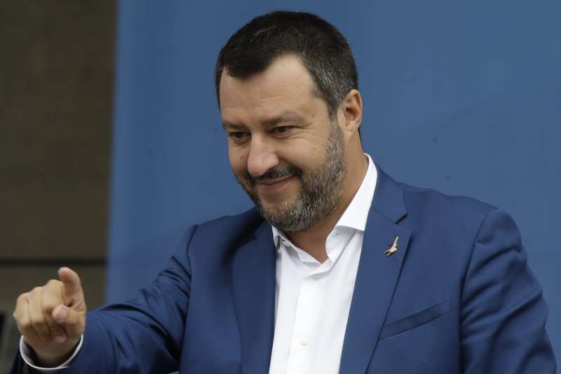 義大利副總理兼內政部長、極右派執政黨「聯盟」(Lega)領導人薩爾維尼(Matteo Salvini)(AP)