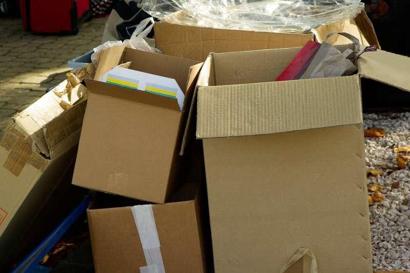 20190519 upload-紙箱 箱子 包裹 快遞 打包 物流 貨物 倉儲。示意圖。(取自jackmac34@pixabay/CC0)
