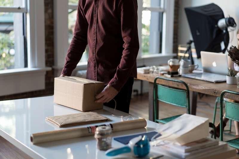 20190519 upload-紙箱 箱子 包裹 快遞 打包 物流 貨物 倉儲。示意圖。(取自Free-Photos@pixabay/CC0)