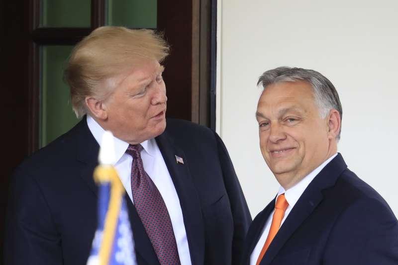 2019年5月13日,美國總統川普在白宮會見匈牙利總理奧爾班(Viktor Orbán)(AP)