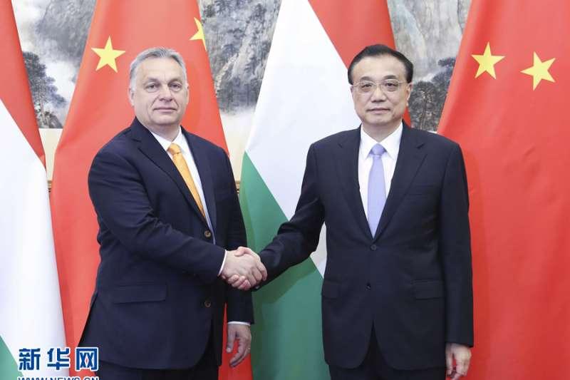 2019年4月25日,中國國務院總理李克強在北京釣魚台國賓館會見匈牙利總理奧爾班(新華社)