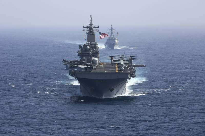 因中國的抵制,未來美國軍艦航行西太平洋時,會不會以台灣取代香港停靠,引發熱議。(AP)