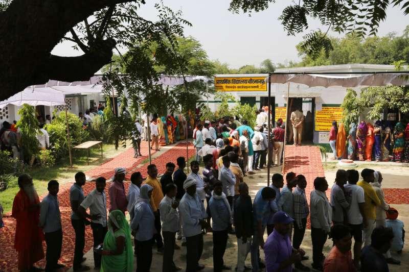印度國會大選在5月19日正式結束,這也代表長達39天的馬拉松投票正式落幕。(美聯社)