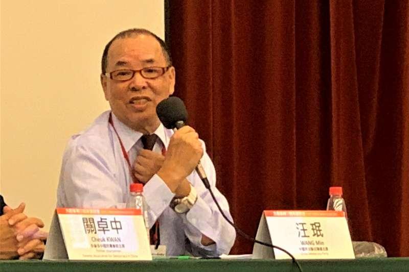 六四30周年:中國民主黨全國聯合總部主席汪岷(簡恒宇攝)