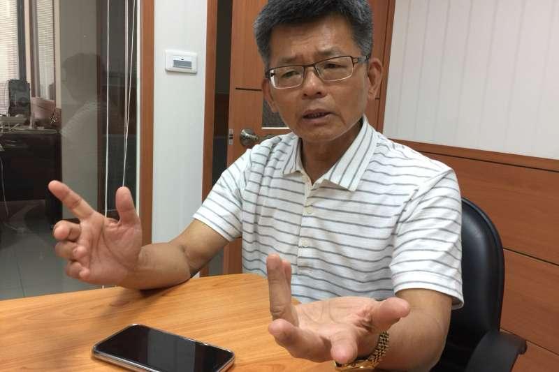 楊秋興他自認為是「先知」, 早一步離開腐敗的民進黨。 (徐炳文攝)