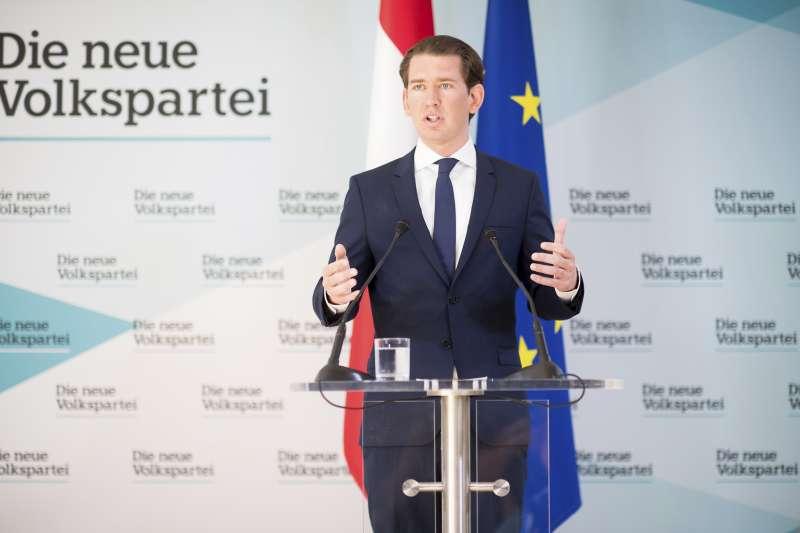 奧地利總理庫爾茲20日召開記者會。(AP)