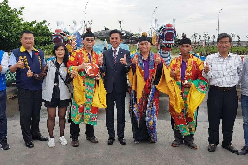 2019新竹市端午龍舟錦標賽21日舉行祈福點睛暨淨港儀式。(圖/方詠騰攝)