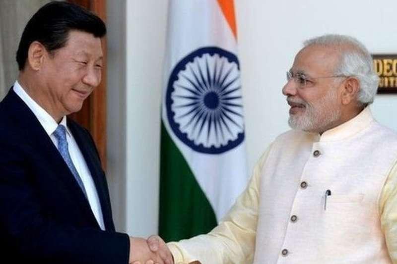 印度2014年習近平訪問印度。(BBC中文網)