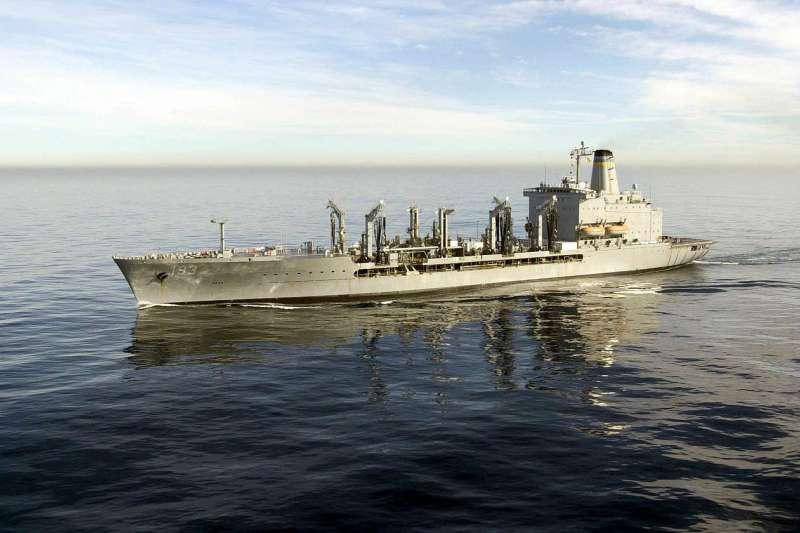 美軍作戰艦2艘22日行經台灣海峽,國防部證實。圖為2鑑其中之一的美軍補給艦「狄爾號」(Walter S. Diehl)示意圖。(資料照,取自維基百科/公用領域)