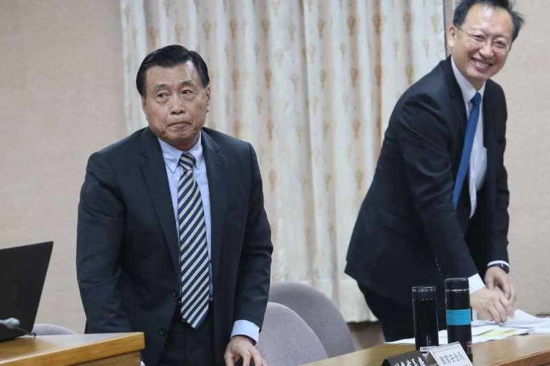 國安局長彭勝竹(左)缺席國會備詢,引起立委不滿。(柯承惠攝)
