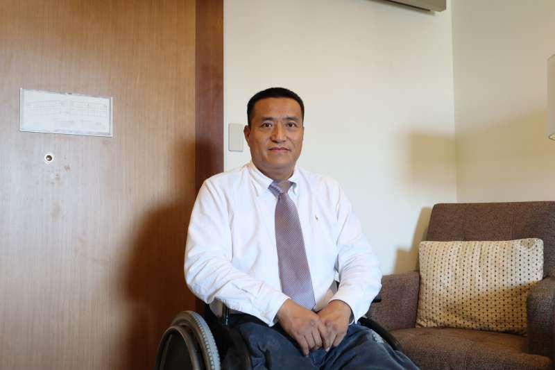 2019年5月23日,中國八九民運人士方政接受《風傳媒》專訪。(蔡娪嫣攝)