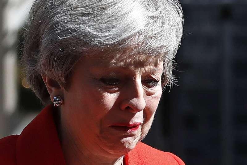 5月24日,英國首相梅伊黯然宣佈將辭職下台(美聯社)