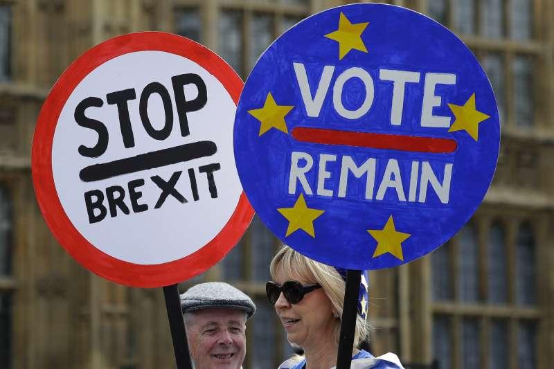 英國脫歐,國內深陷脫歐僵局,保守黨黨魁梅伊宣布將辭職後,黨內各山頭摩拳擦掌。(美聯社)