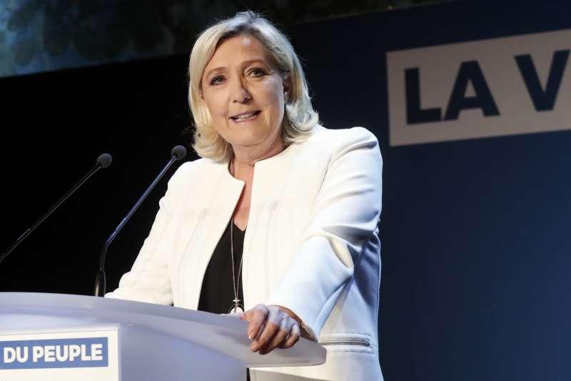 歐洲議會大選:法國極右政黨民族聯盟領袖勒潘(AP)