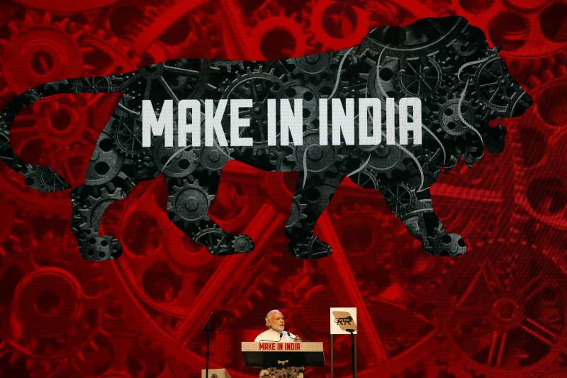 2019年印度國會大選,總理莫迪(Narendra Modi)的經濟口號「印度製造」(AP)