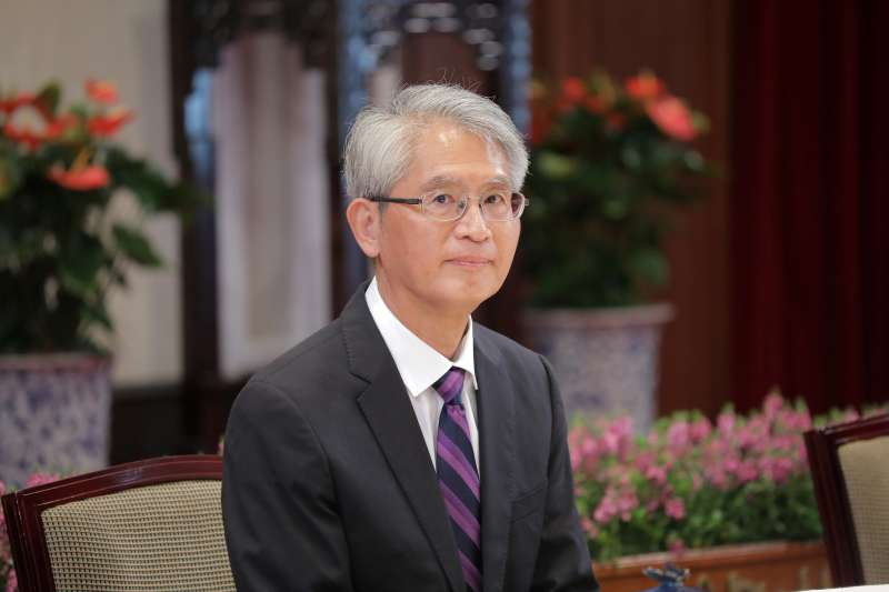 20190527-總統府27日舉行108年司法院大法官被提名人介紹記者會,圖為被提名人台大法律系教授謝銘洋。(取自總統府@Flickr)
