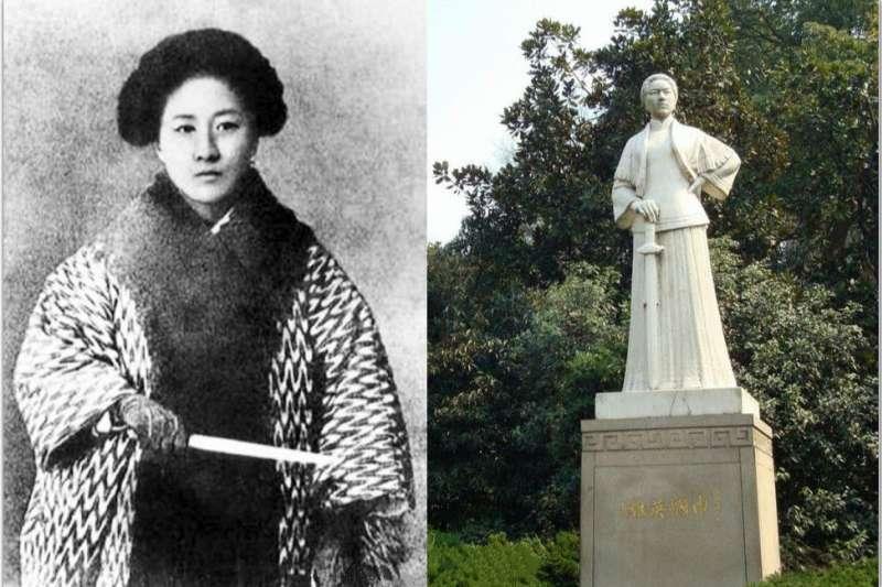 秋瑾不但獨自離開丈夫到日本求學,更加入了革命運動,辦報紙推廣女權......(圖/維基百科)