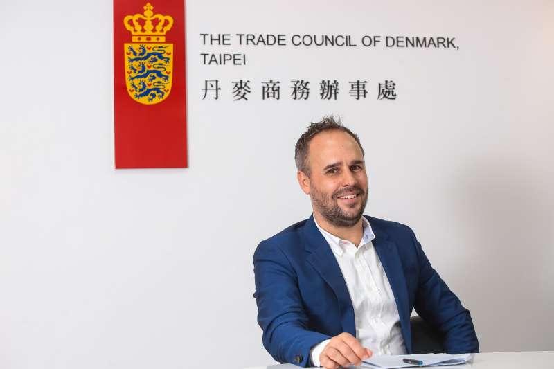 20190528-丹麥商務辦事處長倪安升(Nicholas Enersen)專訪。(顏麟宇攝)