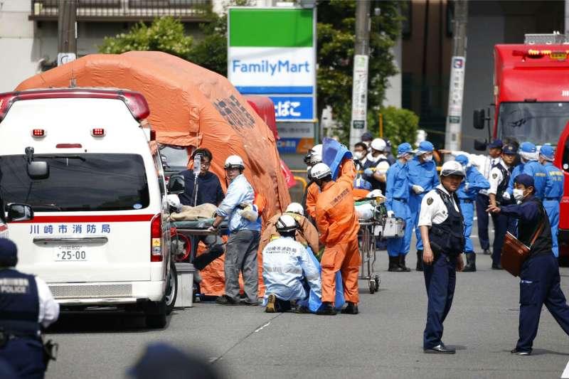 日本神奈川縣的川崎市28日上午驚傳無差別殺人事件。(美聯社)