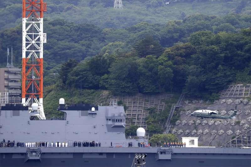 日本海上自衛隊的加賀號直升機護衛艦。(美聯社)