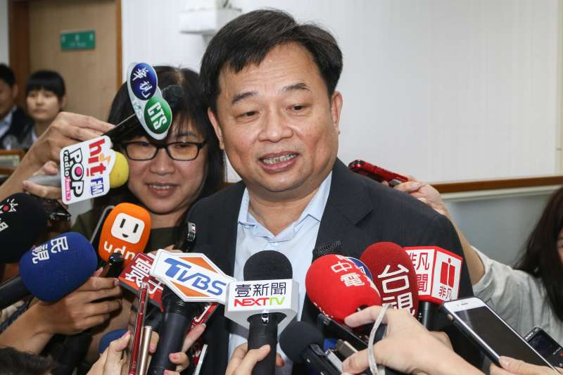 20190529-前行政院副院長林錫耀29日出席民進黨中執會。(蔡親傑攝)