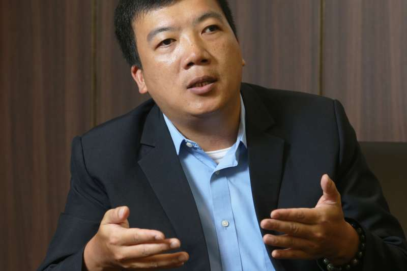 日月光企業職安處部經理顏俊明提到推動永續供應鏈的目標與挑戰。(資料照,劉學聖攝)
