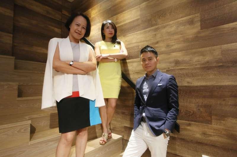 「華人領袖100」公益平台三位發起人石恬華、顏玉芬、彭仕邦(由左至右)。(柯承惠攝)