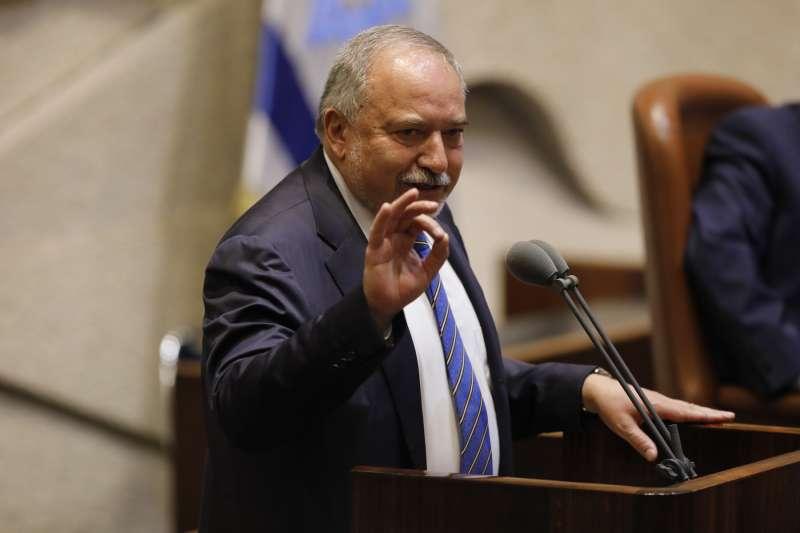 民族主義右派政黨「以色列家園黨」(Yisrael Beiteinu)黨魁利伯曼(Avigdor Lieberman)。(美聯社)