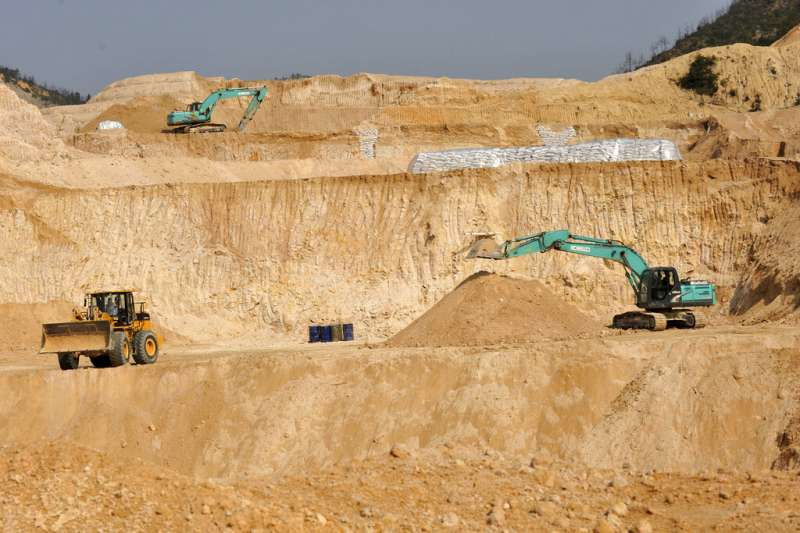 中國江西贛縣的稀土礦場(AP)