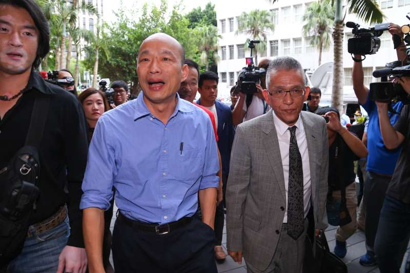 20190531-高雄市長韓國瑜31日至北檢對吳子嘉提告。(顏麟宇攝)