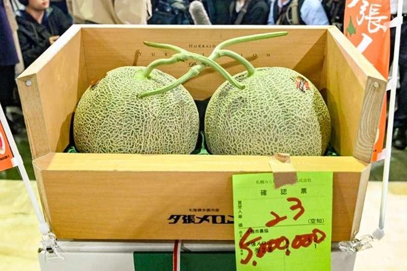 標價500萬日圓的夕張哈密瓜(圖/潮日本提供)