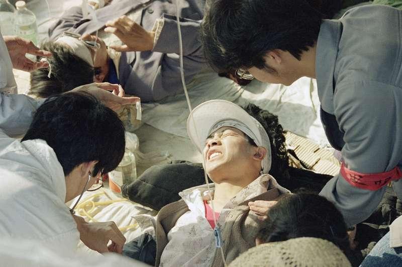 1989年5月17日,天安門廣場,示威抗議的學生(AP)