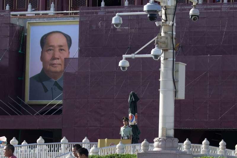 2019年,六四事件30周年,北京天安門廣場戒備森嚴,官方全面監控(AP)