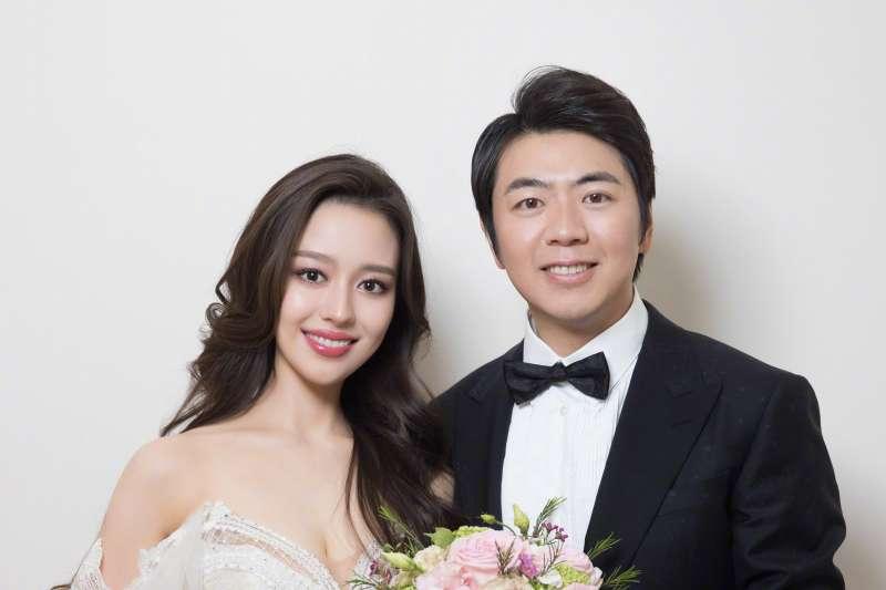 中國鋼琴家郎朗迎娶嬌妻吉娜.愛麗絲(Gina Alice)(郎朗微博)