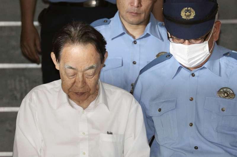 2019年6月1日,涉嫌殺害親生兒子的日本農林水產省前事務次官、前日本駐捷克大使熊澤英昭。(翻攝網路)