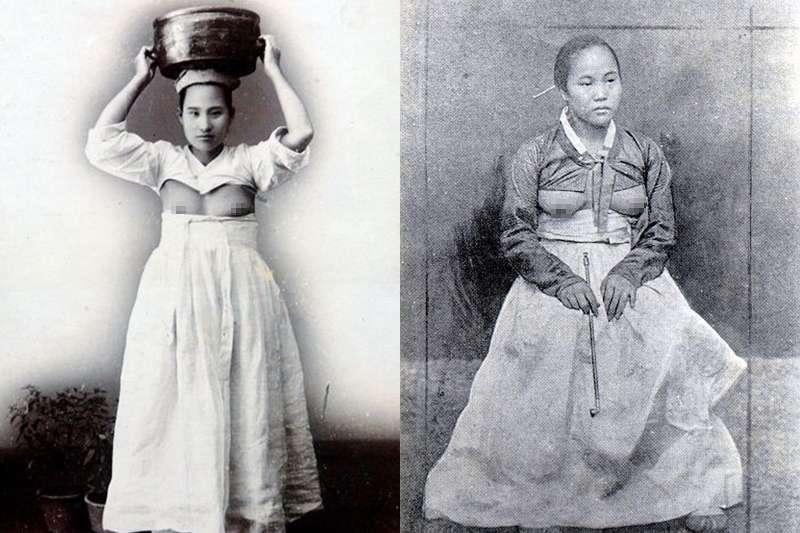 一百年前的韓國曾經流行露乳裝?(圖/取自網路)