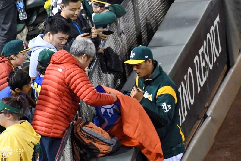 奧克蘭運動家左投王維中(JCON Taiwan 籃球盛事提供)