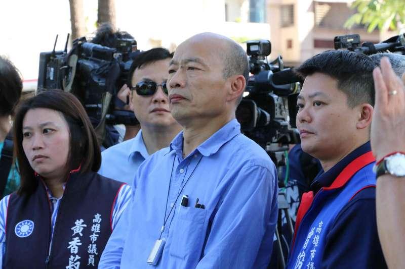高雄市長韓國瑜3日視察高雄三民區登革熱防治。(高雄市政府提供)