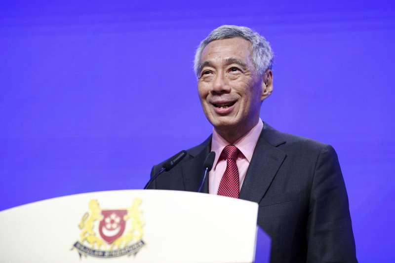2019年5月31日,第18屆「香格里拉對話」在新加坡揭幕,新加坡總理李顯龍31日在開幕晚宴上發表主題演講(AP)