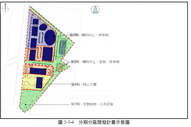 20190604-圖為高雄市政府在2015年規劃華榮工商綜合專用區4期開發期程計畫圖。(取自我愛楠梓臉書專頁)