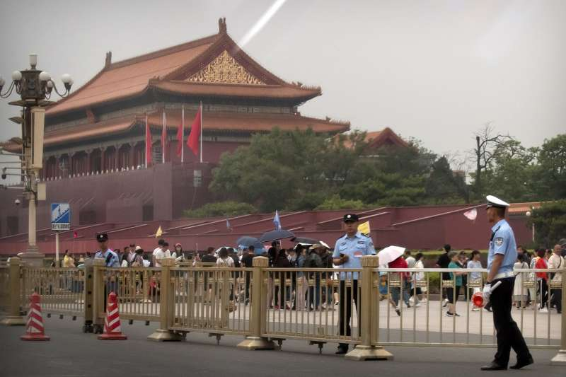 2019年6月4日,中國北京天安門廣場(AP)